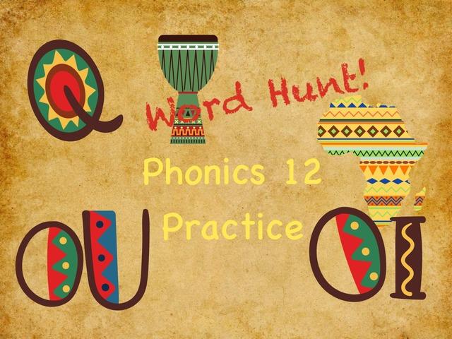 Word Hunt Phonics 12 practice by Tony Bacon
