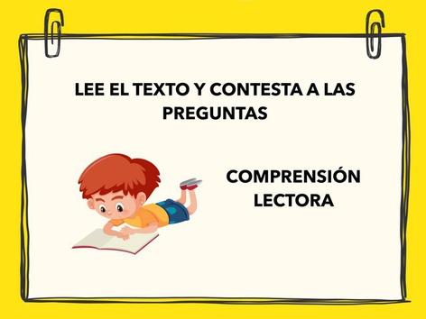 Comprensión Lectora 1 by Francisca Sánchez Martínez