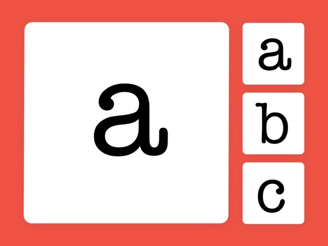 Letter Match:Lower Case #1 by Carol Smith