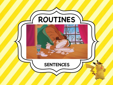 Routines - Sentences Game by ShowAnd Text