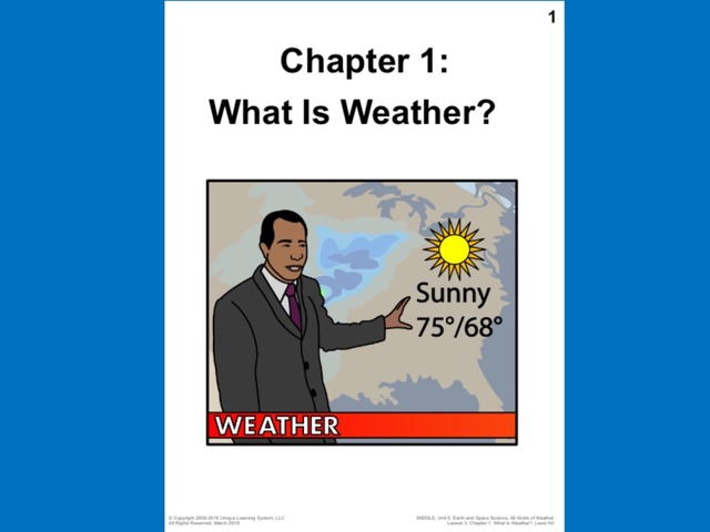 April Unique Unit Chapter 1: What Is Weather? by Tanya Folmsbee