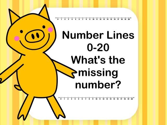 Number Line 0-20 Missing Number by Jennifer
