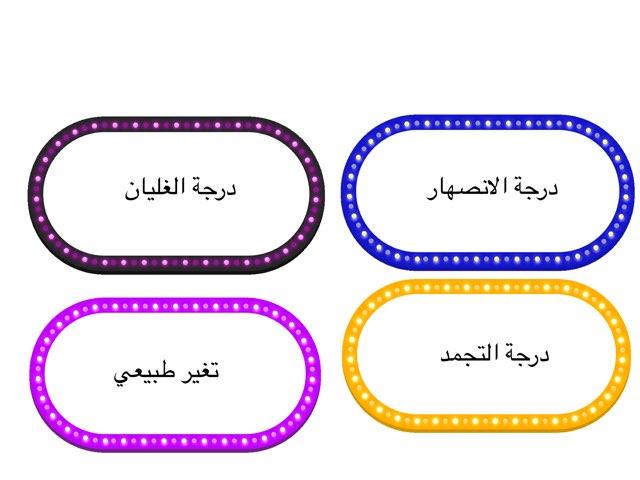 مسابقه  عن التغيرات الطبيعية  by hanan alhashemi