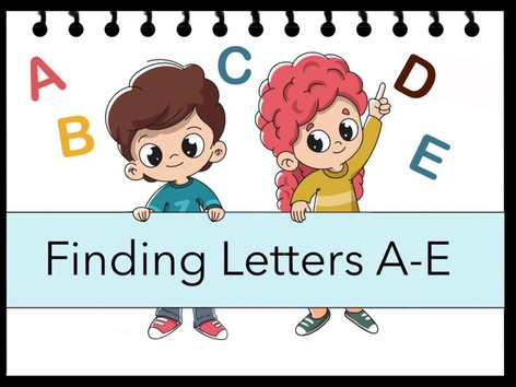 Finding Letters A-E by Cici Lampe