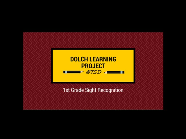 Word ID 1: Dolch 1st Grade by TSD Library