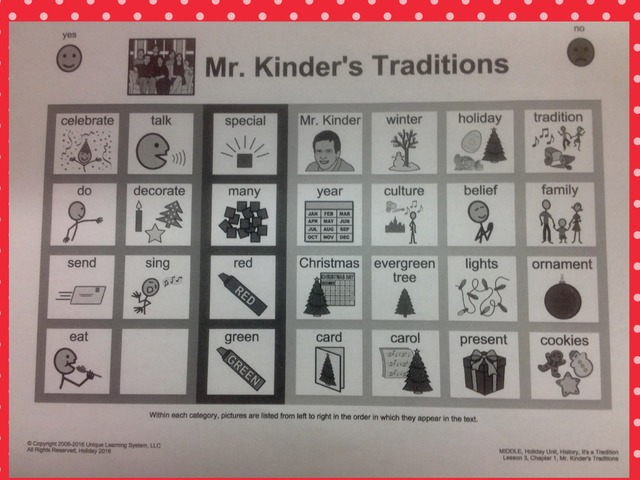 December Unique Unit: Mr. Kinder's Tradition- Sight Words by Tanya Folmsbee