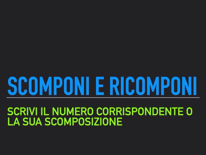 Scomponi E Ricomponi by Primaria Interattiva