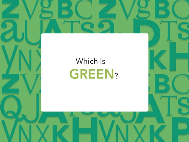 Which Is Green? by Melissa Winn