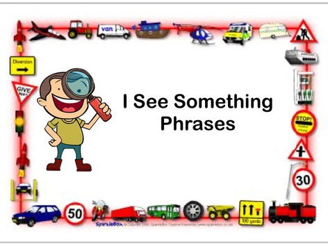 I See Something Phrases by Teresa Grimes