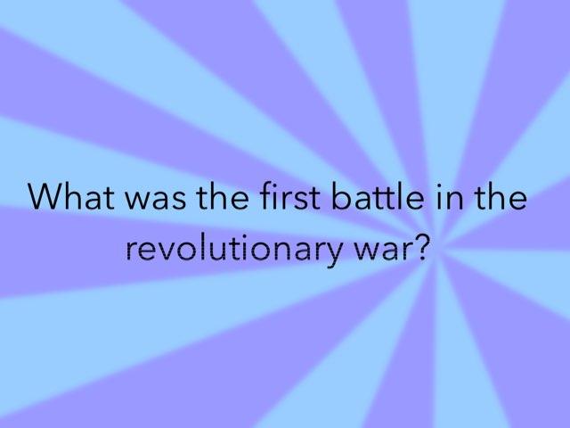 Revolutionary War by Jane Miller _ Staff - FuquayVarinaE