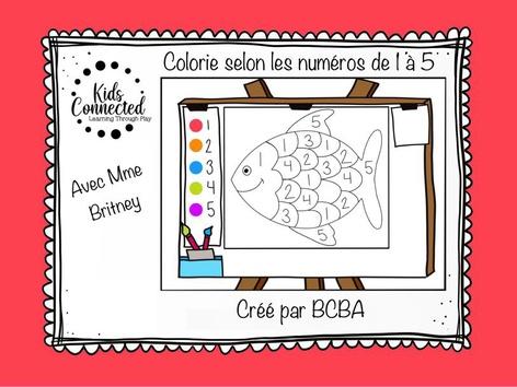 Kit de peinture par numéros de 1 à 5. Le Poisson by Kids  Connected