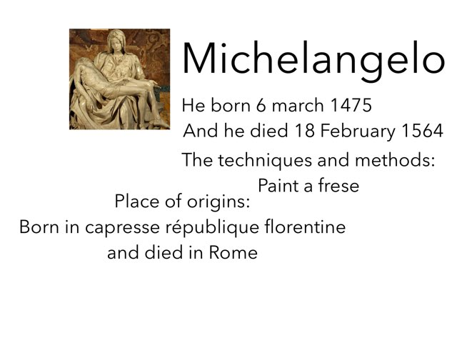 Michelangelo by Isabelle Guay