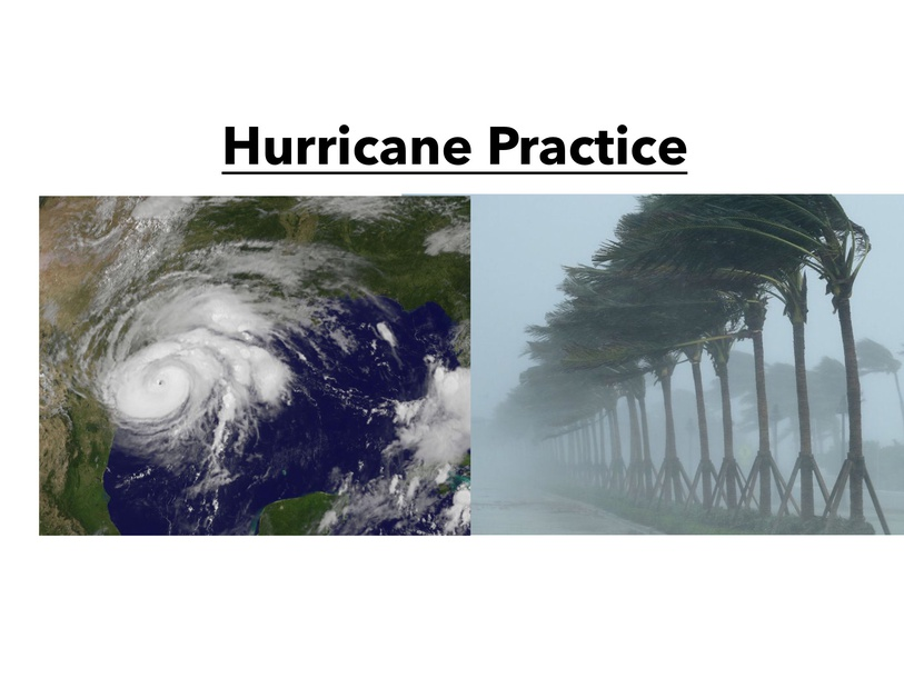 Hurricane Practice by Meagan Simpson