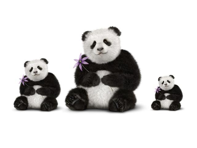 Panda Wil Een Vriendje. Kleinste Of Grootste by jole gielen