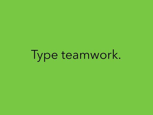 Teamwork Vocabulary Spelling by Julie Gittoes-Henry