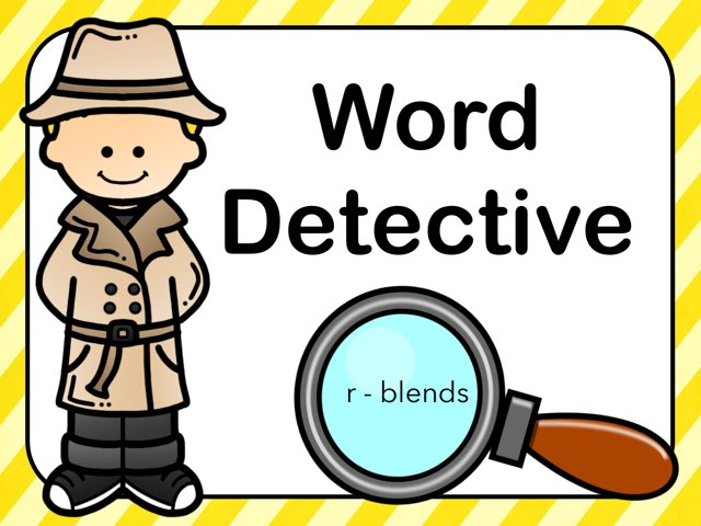 Word Detective R-Blends by Jennifer