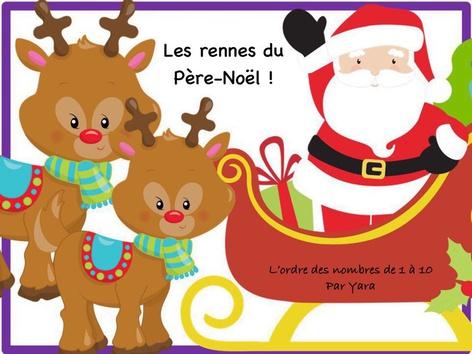 Les rennes du Père-Noël - L'ordre des nombres de 1 à 10 by Yara Habanbou