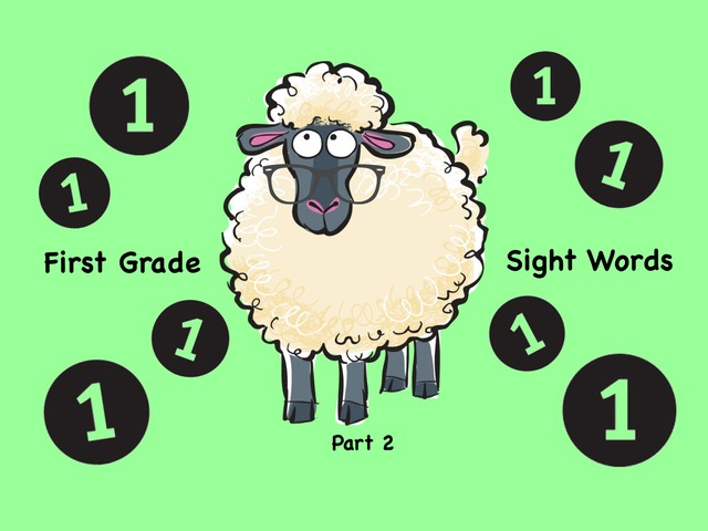 First Grade Sight Words 2 by Ellen Weber