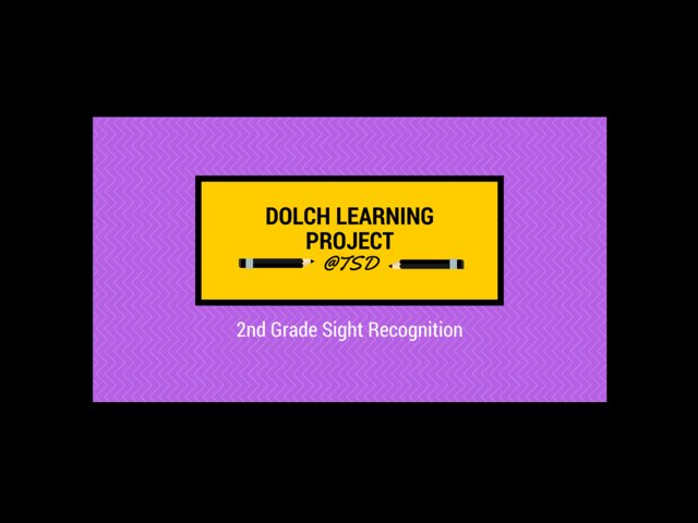 Word ID 2: Dolch 2nd Grade by TSD Library