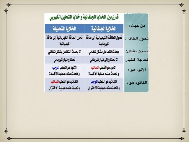 خلية التحليل الكهربائي  by سلمانة سلمانة