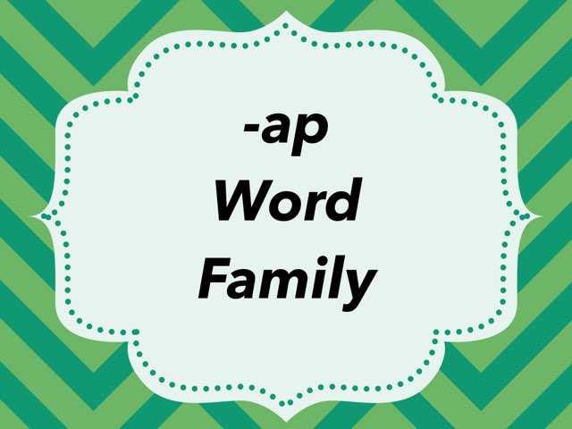 WFPS -ap Word Family by Danette Brown