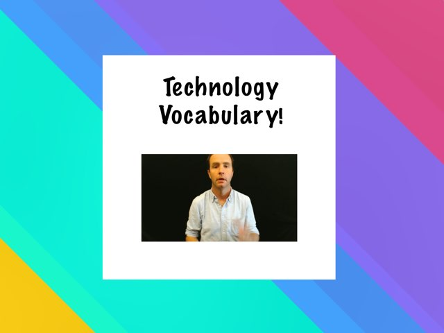 Technology Vocabulary -- 1a by TSD Library