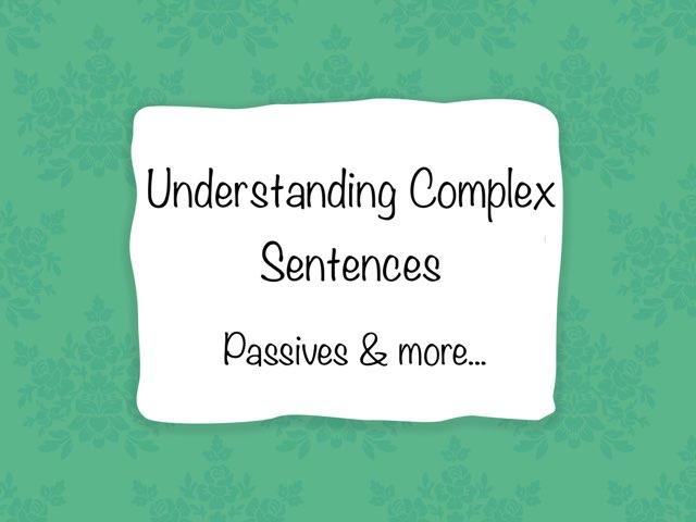 Understanding Complex Sentences by Karen Souter