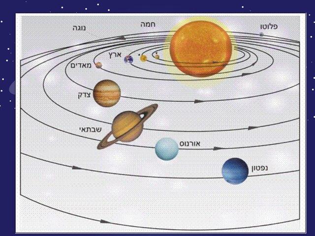 מערכת השמש והפלנגות בתוכה by ורה קושרובסקי