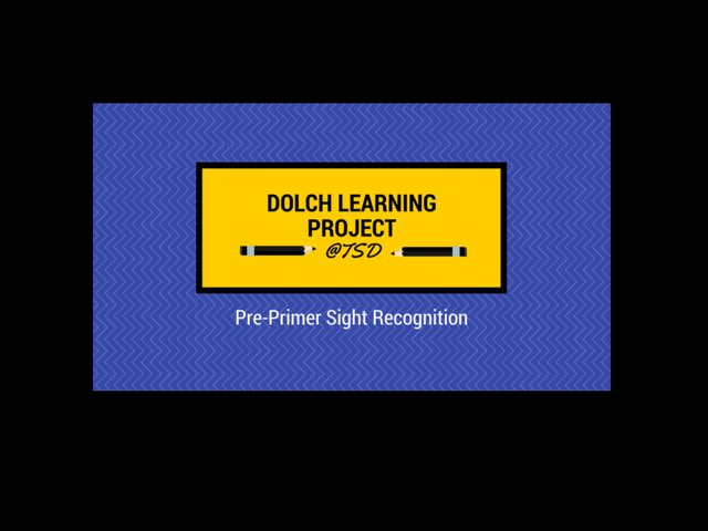 Sign ID 1: Dolch Pre-Primer by TSD Library