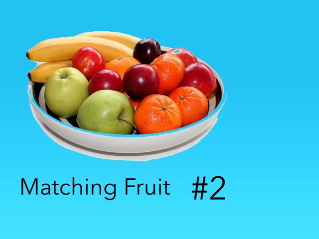 Matching: Fruits #2 by Carol Smith