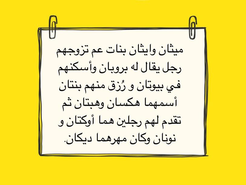 كيفية حفظ اسماء الأكنات by Zainab ali