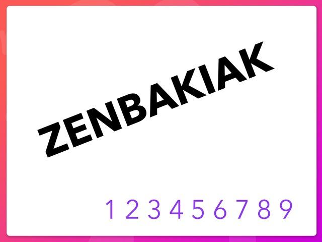 Zenbakiak 1 by Ane Montes