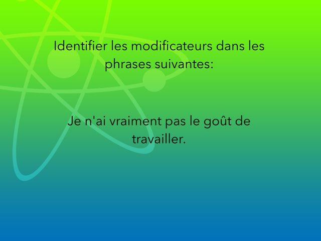 Identifie Les Modificateurs by Jerome Emery