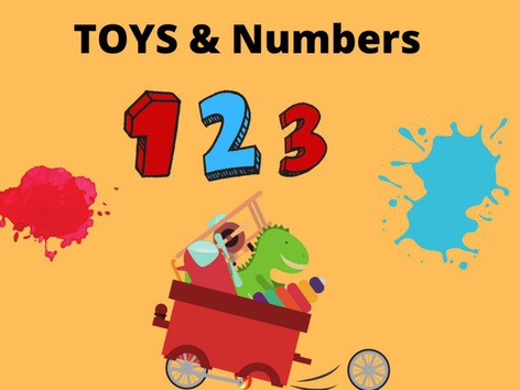Toys and Number 1,2,3. by Joana Reyes