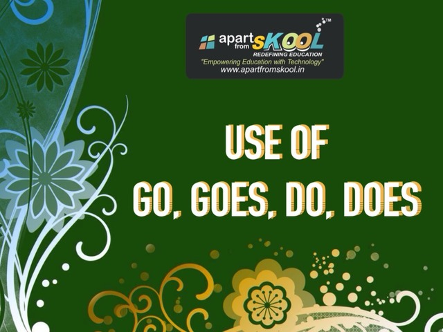 Use Of Go, Goes, Do, Does by TinyTap creator