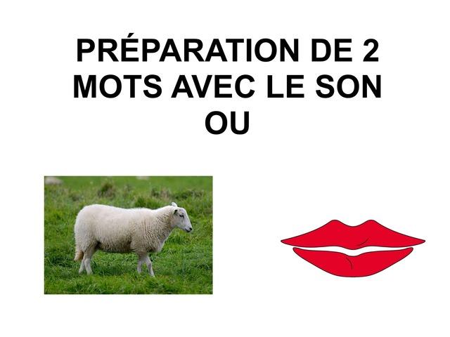 PRÉPARATION DICTÉE DE 2 MOTS AVEC LE SON OU by Valerie Escalpade