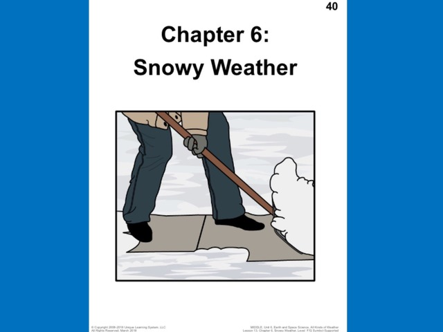 April Unique Unit Chapter 6: Snowy Weather  by Tanya Folmsbee