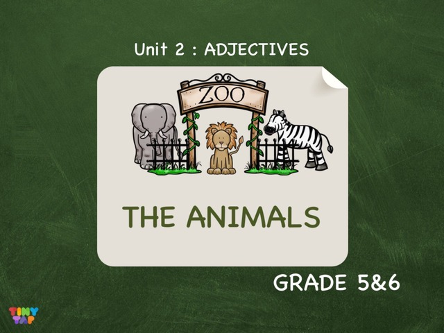The Animals : ADJECTIVES  by Laurence Micheletti