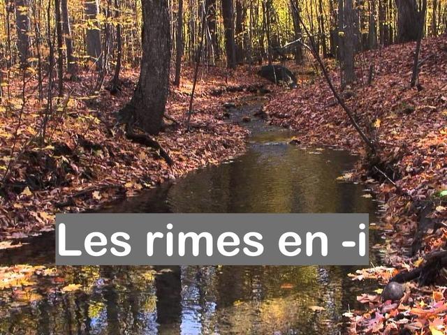 Les Rimes En -i by Alice Turpin