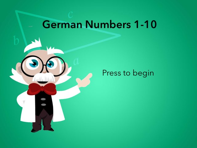 German Numbers 1-10 by Josh Dobos