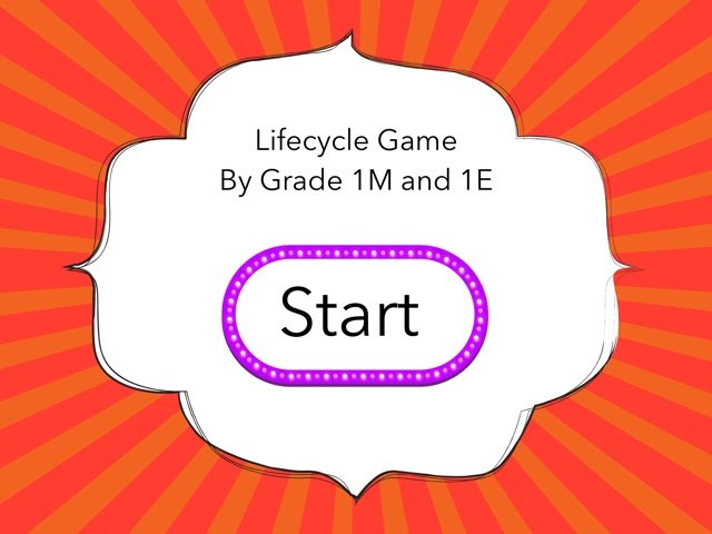 Lifecycle Game By Grade 1 by Carmel Year 1