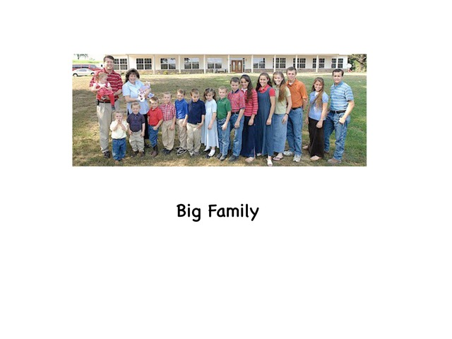 Big family by Rebecca Jarvis