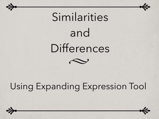 Similarities & Differences Using EET by Karen Souter