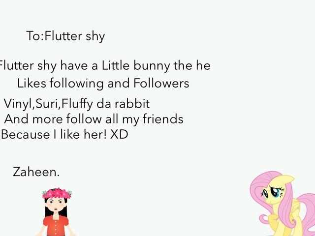 To:Flutter Shy  by Idah Rahman