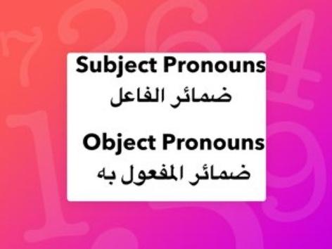 Subject -Object Pronouns  by Lama Ali
