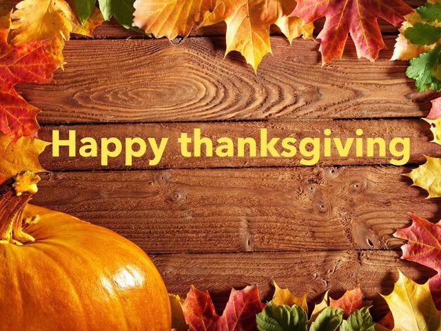 Happy Thanksgiving by Sara Barbato