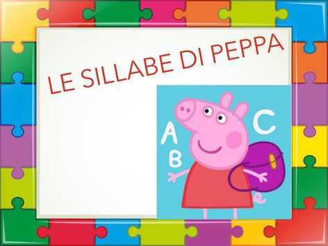 Le Sillabe Di Peppa by Rosalino Rinaldi