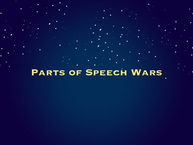 Parts Of Speech Wars by Robin Willard