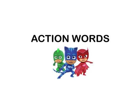 Action Words by Teresa Grimes