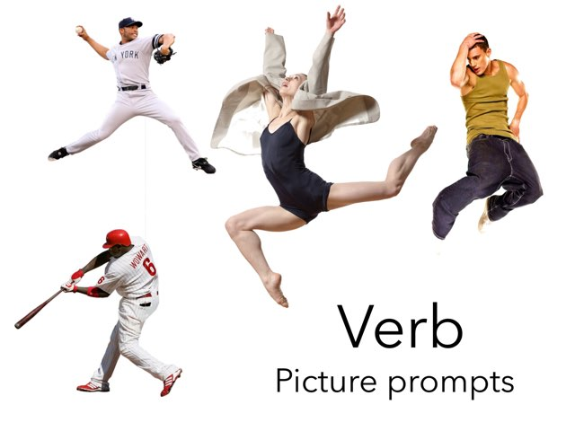 Verb Picture Prompts by Madonna Nilsen
